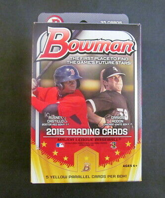 2015 Bowman Baseball Factory Sealed Hanger Box-Contains 5 Yellow Bordered Cards