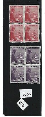 MNH Stamp block complete set / Adolph Hitler / 1943 Birthday / Occupation