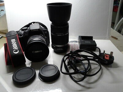Canon 700D with EFS18-55mm & 55-250mm lenses low shutter count - excellent