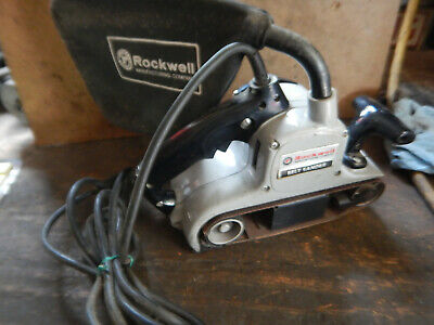 Vintage Porter Cable Rockwell 337 3X21 Belt Sander With Dust Bag