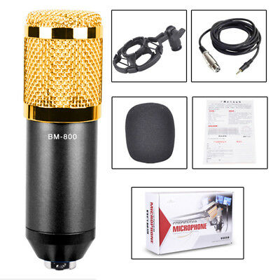 BM-800 Professional Broadcasting Studio Recording Condenser Microphone Mic KitWY