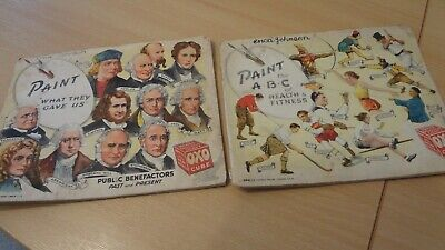 Vintage Oxo Cube Painting Book Series. X 2. Most Pages Filled In. Original Items