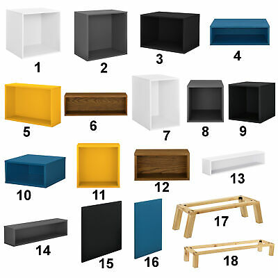 "[en.casa]® ""Elements"" Regal Kommode Wandregal Hängeregal Schrank Wandschrank"