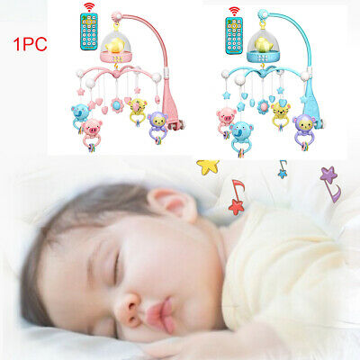 Baby Crib Mobile Hanging Bed Bell Holder Cot Night Lights 120 Music Box  DIY Toy