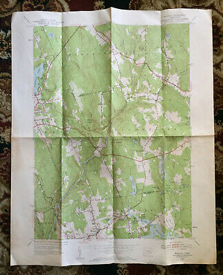 1952 Moodus Ct Quadrangle Map 7.5 Minute Series (Topographic) 27 x 22
