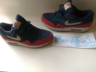 Nike Air Max 1 ID Essential - MENS SIZE 10.5 Red  Blue  537383-400