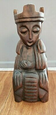 Antique Hand Carved Wooden Statue (Hawaiian?)
