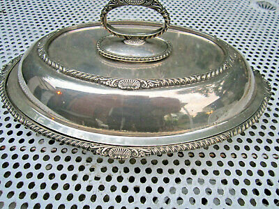 Old Antique Victorian Mappin Bros Queens Silver Plate No.3235 Tureen c1890