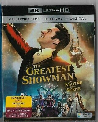 New Sealed 4K Ultra - Blu-Ray - Digital - THE GREATEST SHOWMAN -  Also In French