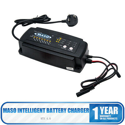 12 V 2/4/8 A Automatic Smart Car Battery Charger Bike Motorcycle Marine Boat