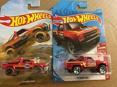 Hot Wheels Subaru Brat 2019 Off Road Truck Series Red Edition 1987 Dodge D100