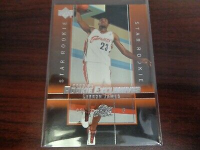 2003-04 Upper Deck LeBron James #1 Star ROOKIE CARD-LAKERS