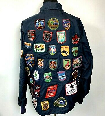 Vintage Jacket Souvenir Patches States Racing Tourist Spots Vacation Collection