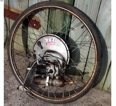 B.S.A. 1953 Winged Wheel Cyclemotor complete working !!! Barn Find