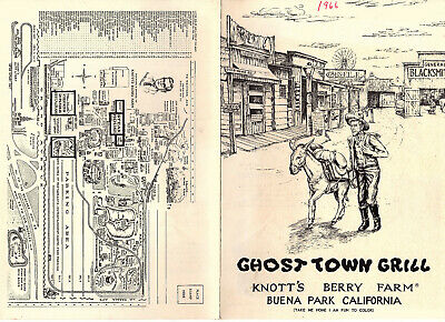 Knotts Berry Farm Theme Park California Ghost Town Grill Original 1966 Menu