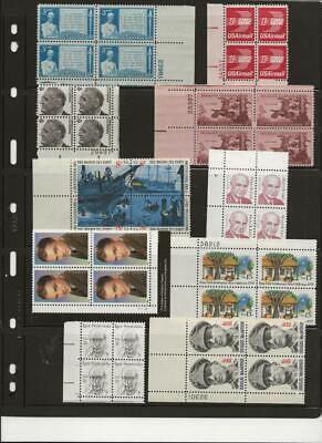 CRAZY DEAL!!  US PLATE BLOCKS AT FACE VALUE!!  ALL DIFFERENT, MINT NH Great Gift