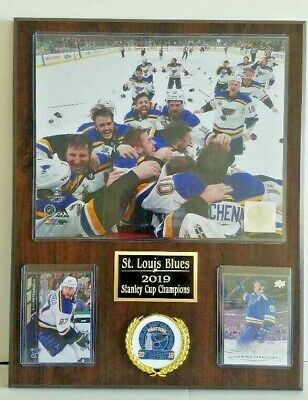 St. Louis Blues 2019 Stanley Cup Champions Hockey Plaque