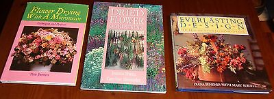 Lot of 3-Books-Dried Flowers Gardening,...With A Microwave,Everlasting Design