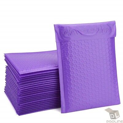 "Poly #1 7.25""x12"" Purple Bubble Mailers Padded Envelopes Bags Recycle 25 to 2000"