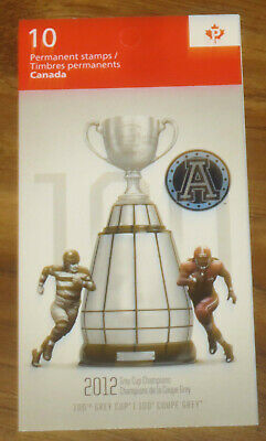 Toronto Argonauts 100th Grey Cup Champions Full Pane of Canada Stamps 10P CFL