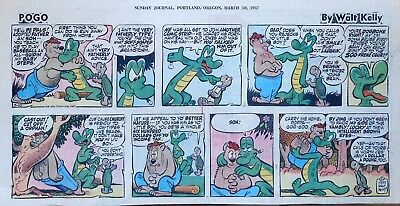 Pogo by Walt Kelly - full color Sunday comic page - March 10, 1957