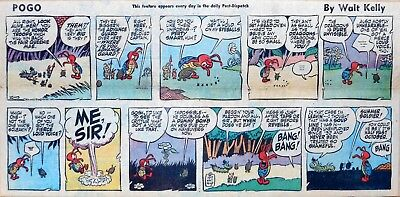 Pogo by Walt Kelly - full color Sunday comic page - October 13, 1957