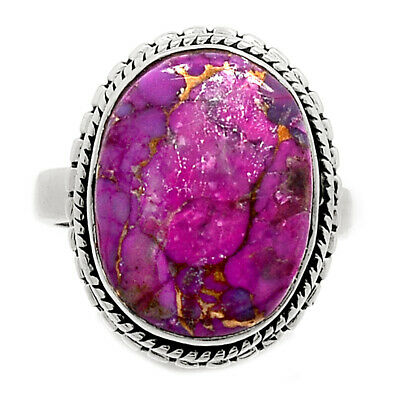 Purple Copper Turquoise 925 Sterling Silver Ring Jewelry s.6 PCTR283