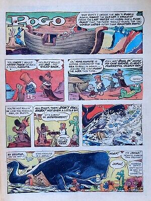 Pogo by Walt Kelly - Prehysterical - full tab page Sunday comic - Jan. 22, 1967