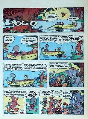 Pogo by Walt Kelly - large full tab page color Sunday comic - October 15, 1967