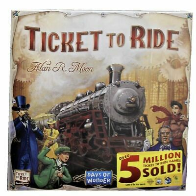 Ticket to Ride Train Adventure Board Game Party Summer Holiday Gift FreeShipping