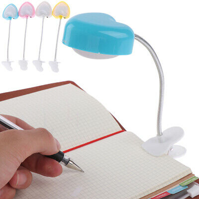 Love heart clip LED reading book light eyes-protect energy save night lights