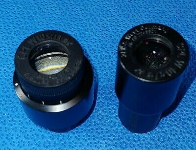 Pair of Carl Zeiss CPL 10x/18 Microscope Eyepieces 10x Focus 46 40 23 & 46 40 22