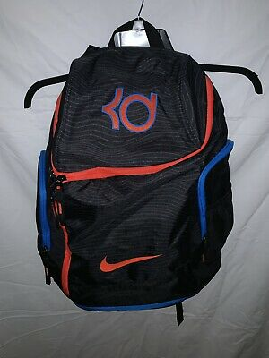 quality design 62929 437bc Nike Air Max Backpack KD Kevin Durant 35 Black Orange Blue OKC Large  Basketball
