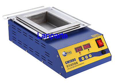 900W Digital Preheat Soldering Pot / Preheat Station Square Tin Pot 15*10cm 220V