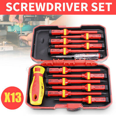 13Pcs Insulated Screwdriver Set 1000V Magnetic Phillips Slotted Torx Hand  New