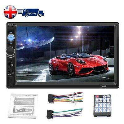 7 Inch UK Double 2DIN Car FM Stereo Radio USB&MP5 Player Touch Screen Bluetooth