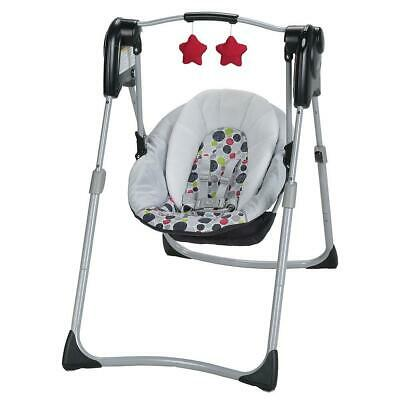 _ITEM DISCONTINUED_Graco Slim Spaces Compact Baby Swing - Etcher