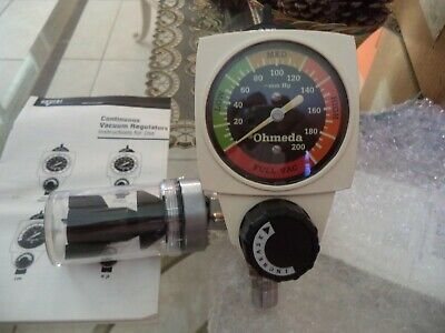 New Ohmeda Continuous Vacuum Regulator w/ Overflow Safety Trap