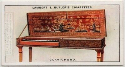 Clavichord European Stringed Keyboard Music Instrument 1920s Ad Trade Card