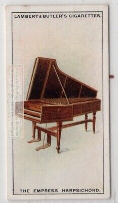 Empress Harpsichord Stringed Music Instrument 1920s Ad Trade Card