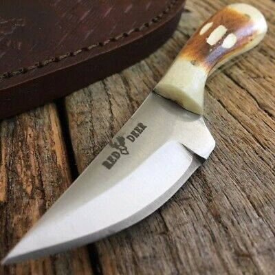 Bone Handle Fixed Blade Outdoor Camping Hunting Bowie Skinner Knife Fishing i