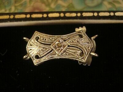 Beautiful,Finely Crafted Antique Art Deco: Glittering Diamond Set 9CT Gold Clasp
