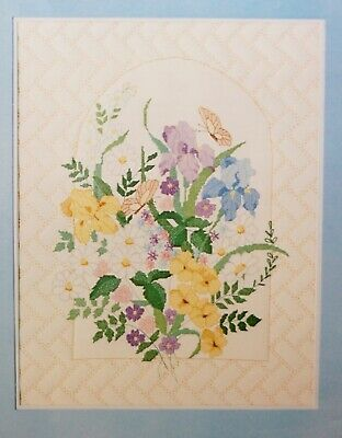 Quilted IRIS Arbor PICTURE 1985 CANDAMAR Something Special Cross Stitch Kit