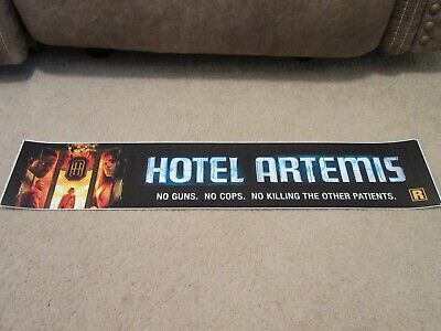 *** HOTEL ARTEMIS [2018] *** S/S 5x25 [LARGE] MOVIE THEATER POSTER [MYLAR]