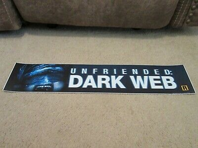 ** UNFRIENDED: DARK WEB [2018] ** S/S 5x25 [LARGE] MOVIE THEATER POSTER [MYLAR]