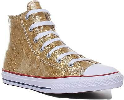 Converse 663625C Youth Synthetic Trainer In Gold Size UK 3 4 5
