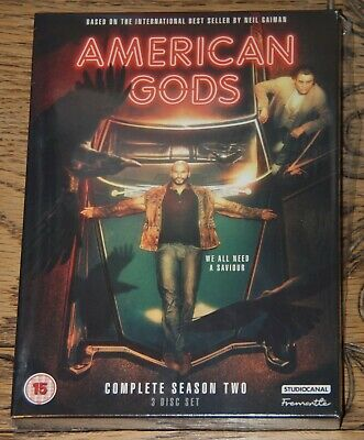 American Gods Series Season 2 Two Second Genuine Uk R2 Dvd Immediate Dispatch