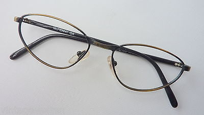 Antique Gold Women's Glasses Made of Metal with Butterflyform 50-17 Black Frame