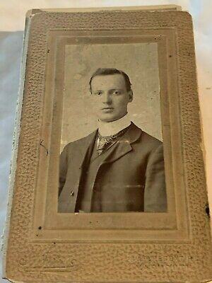 Card Cabinet Real Photo Photograph Cdv Antique Unknown Pos Groom Man Gent