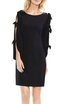 NEW VINCE CAMUTO Plus Size 2X Black Tie Sleeve Stretch Ponte ...